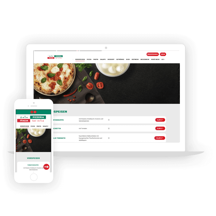 SimplyDelivery Webshop Einsteigerpaket für Restaurants Corona