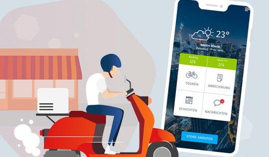Effizienter ausliefern mit unserer Fahrer-App