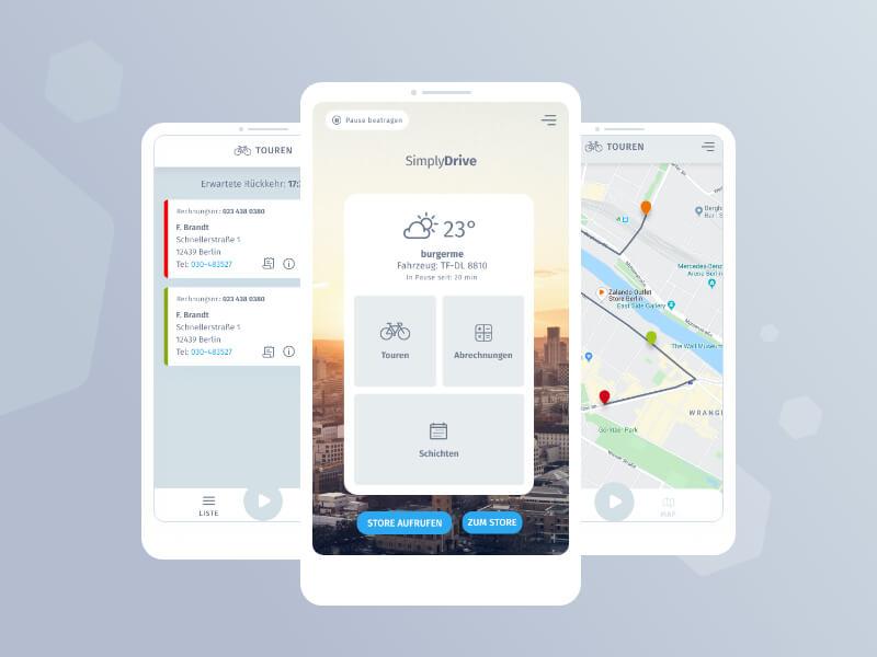 Neue Fahrer-App von SimplyDelivery