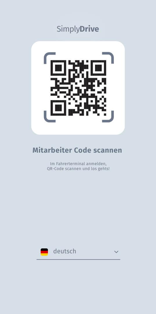 Easy registration and start via QR code