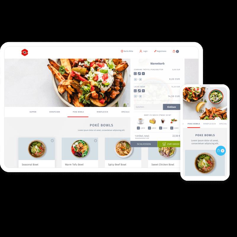 Webshop & App für Restaurants
